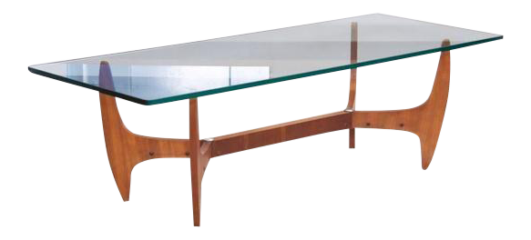 sophisticated large brazilian midcentury coffee table with thick