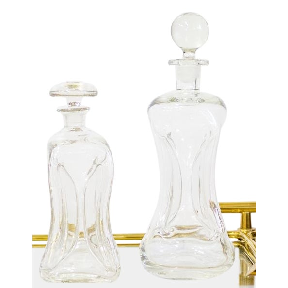 Glass Mid Century Modern Holmegaard Kluk Danish Decanters - A Pair For Sale - Image 7 of 7