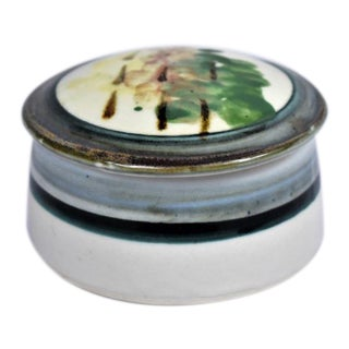 1990s Handmade Ceramic Lidded Box For Sale