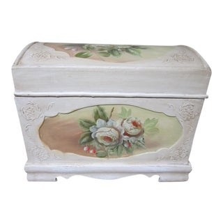 Floral Hand Painted Wooden Chest