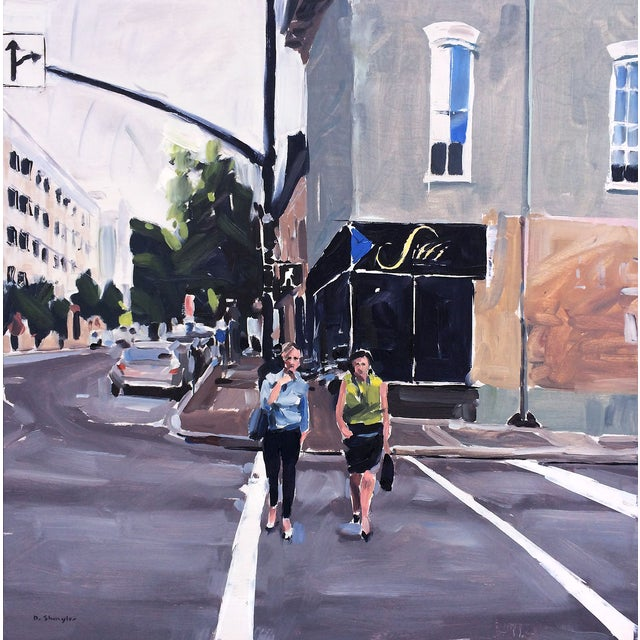 David Shingler Painting - Sitti, Raleigh Cityscape. Nc - Image 1 of 2