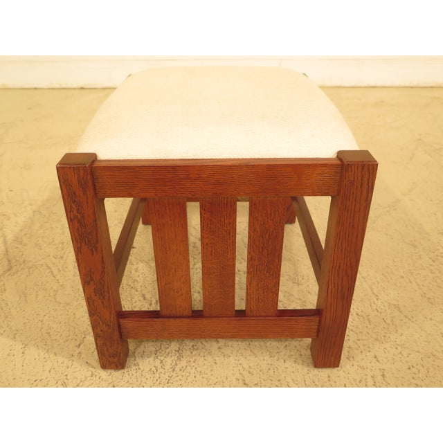 Stickley Mission Oak Arts & Crafts Ottoman - Image 5 of 9