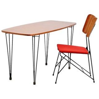 Carlo Ratti Writing Table Set for Legni Curva, Italy, 1950