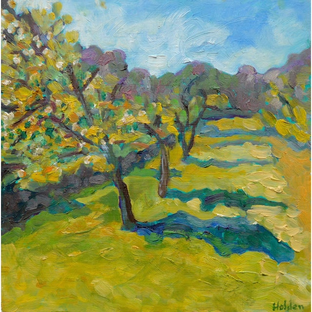 French Orchard in the Spring Plein Air Painting - Image 1 of 7