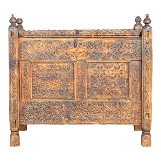 19th Century Swat Valley Dowry Chest For Sale