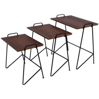 Tony Paul Modernist Nesting Tables For Sale