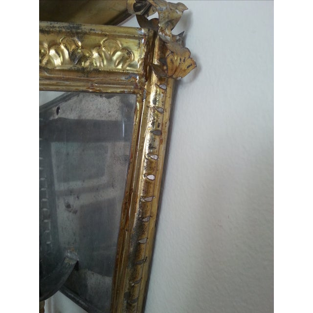 Venetian Style Gilt Tole and Glass Wall Lantern For Sale - Image 7 of 10