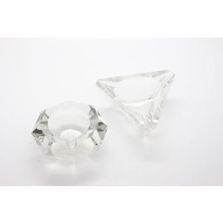 Geometric Lead Crystal Ashtrays - A Pair Preview