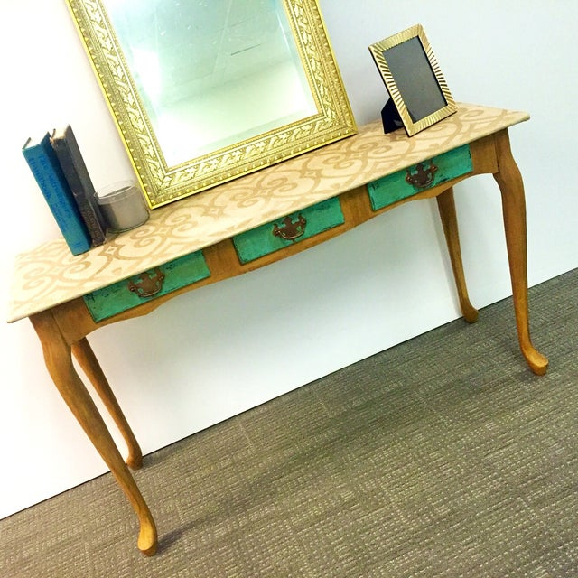 Hand-Painted Sofa Table - Image 6 of 7