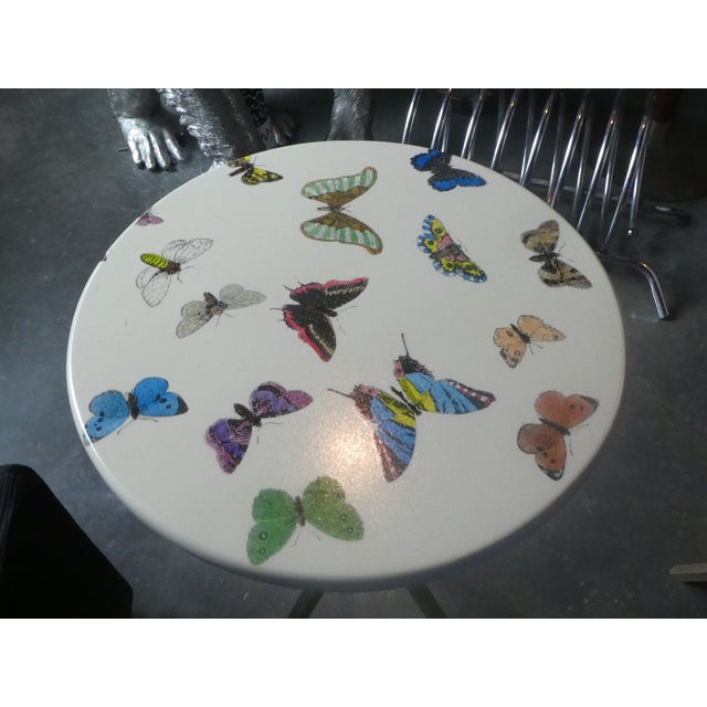 1960s Vintage Fornasetti White Butterfly Occasional Table For Sale In Miami - Image 6 of 13