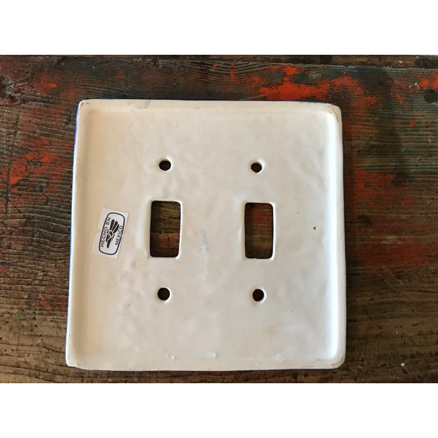 Spanish Hand Painted Mexican Art Double Switch Wall Plate For Sale - Image 3 of 5