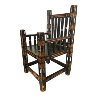 1920s Hand Made Wood Chair For Sale