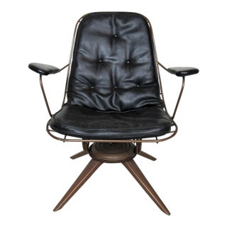 Vintage Industrial Swivel Chair For Sale