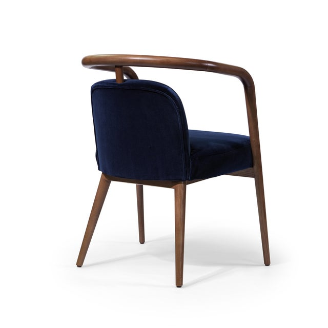 Contemporary Mid Century Style Scandinavian Modern Walnut Chair For Sale - Image 4 of 6