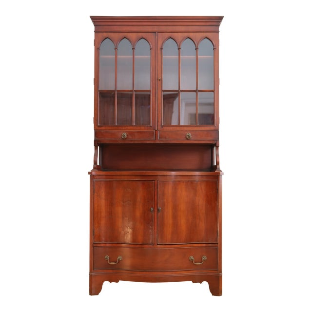 Antique Morganton Mahogany China Cabinet Hutch Chairish