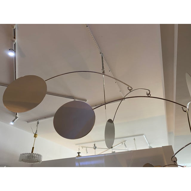 Vintage Abstract Mobile Nickel Plated For Sale In West Palm - Image 6 of 13