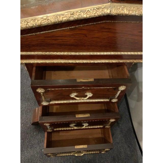 19th Century Empire Bronze Mounted Antique Davenport Desk For Sale - Image 11 of 13