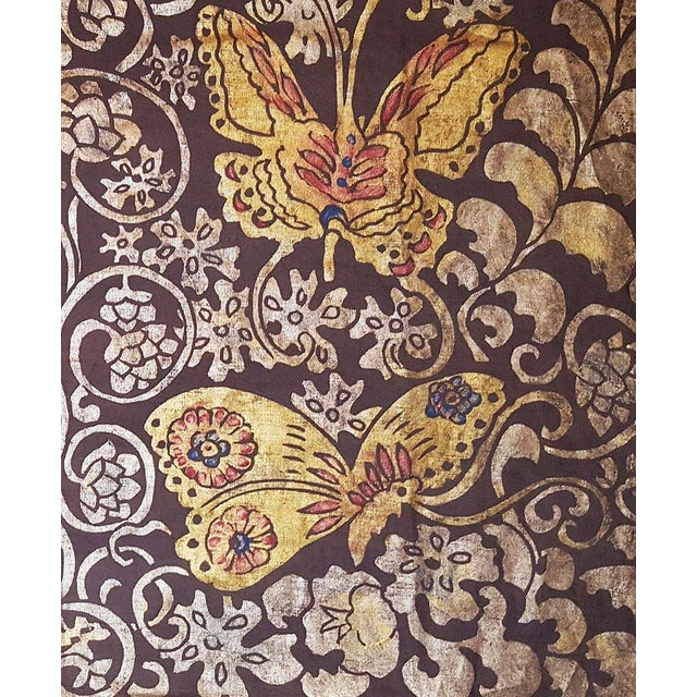 Illustration Butterflies Sateen Linen Pillow Cover For Sale - Image 3 of 4
