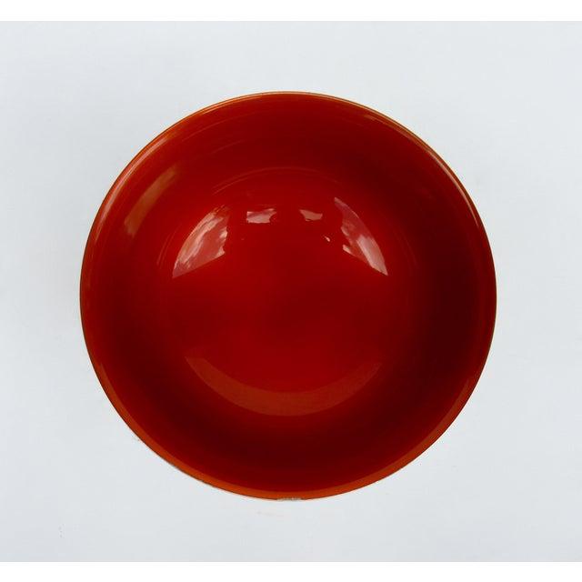 Silver Vintage C.1960s-70s Reed & Barton Tangerine Orange Interior Enameled Paul Revere Serving Bowl For Sale - Image 8 of 12