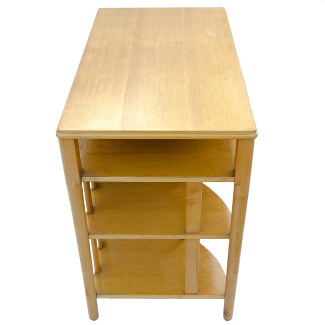 Mid-Century Hill-Rom Maple Desk For Sale - Image 4 of 8