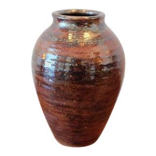 Handmade Studio Pottery Ceramic Stoneware Vessel For Sale