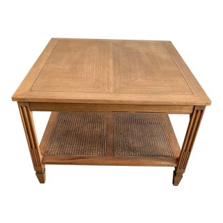 1960s Vintage Square Mahogany Side Table For Sale