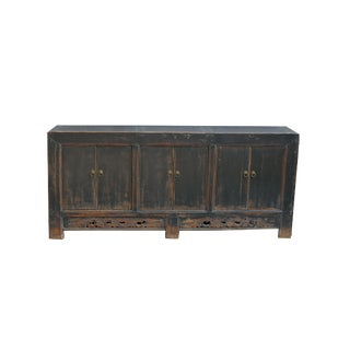 1940s Asian Antique 6-Panels Door Sideboard For Sale