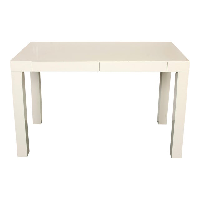Modern Lacquered Parsons Style Writing Desk For Sale