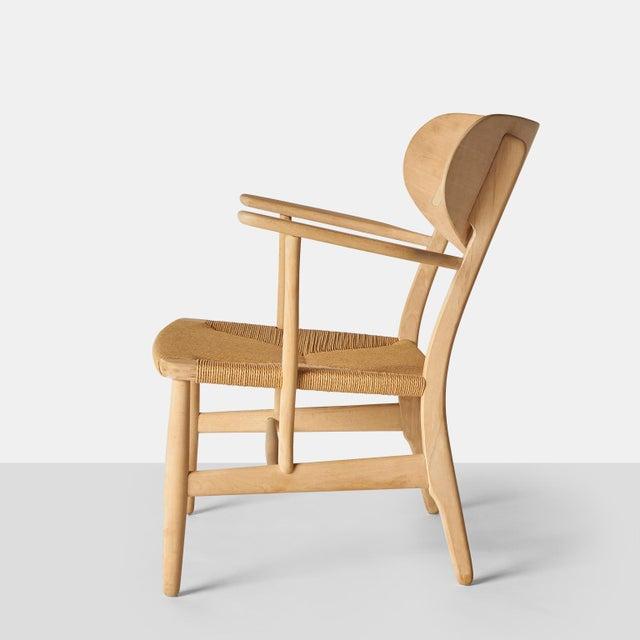 Carl Hansen Hans Wegner Lounge Chair Model #Ch-22 For Sale - Image 4 of 7