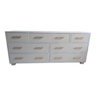 1960s Vintage Henredon Gloss White Dresser Credenza Buffet For Sale