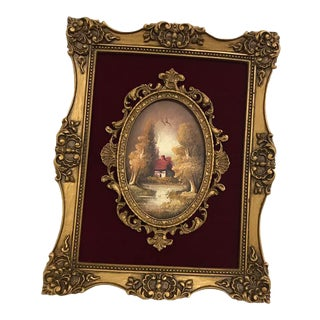 French Baroque Style Oil Painting For Sale