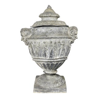 George III Leadwork Covered Urn For Sale