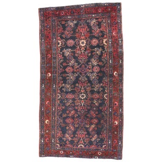 20th Century Persian Hussainabad Hamadan Accent Rug - 3′6″ × 6′3″ For Sale