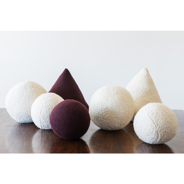 Architectural Pillows by Hunt Modern in Textural Wools For Sale - Image 4 of 10