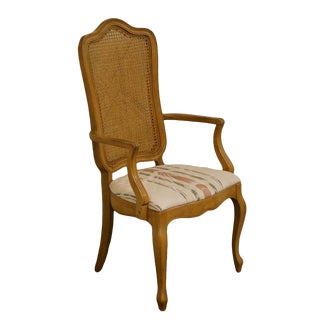 Late 20th Century Vintage Thomasville Furniture Tableau Collection French Provincial Dining Arm Chair For Sale