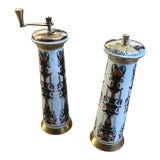 Image of 1970s Vintage Lenox Salt Mill & Pepper Mill-a Pair For Sale