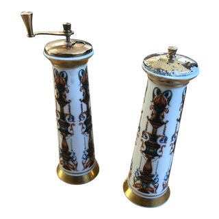 1970s Vintage Lenox Salt Mill & Pepper Mill-a Pair For Sale