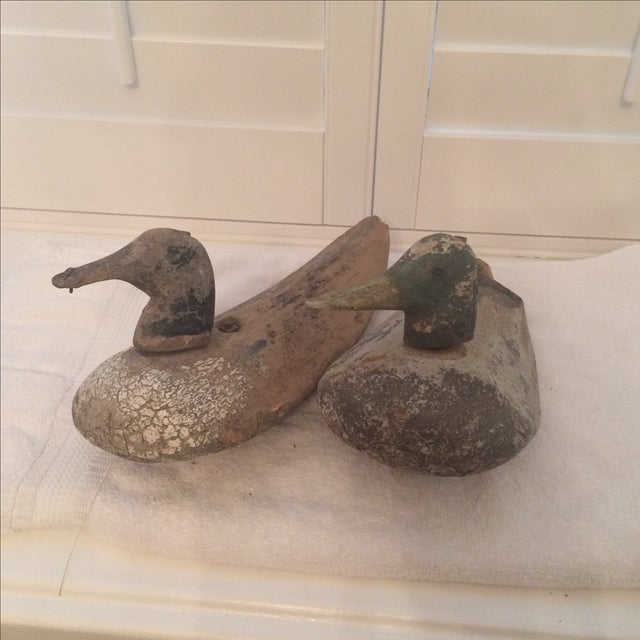 1920s Palm Frond Duck Decoys - Pair For Sale - Image 7 of 7