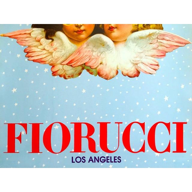 "Baby Blue Rare Original Vintage 1980 "" Fiorucci Los Angeles "" New Wave Post Modern Italian Fashion Pop Art Poster For Sale - Image 8 of 11"