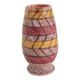 Italian Froth Glazed Pottery Vase For Sale