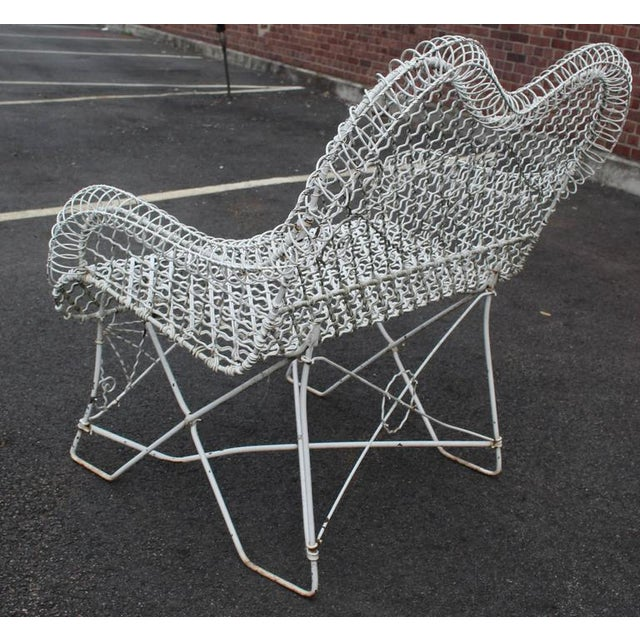 Wire Mesh Loveseat Settee Outdoor Bench For Sale In New York - Image 6 of 6