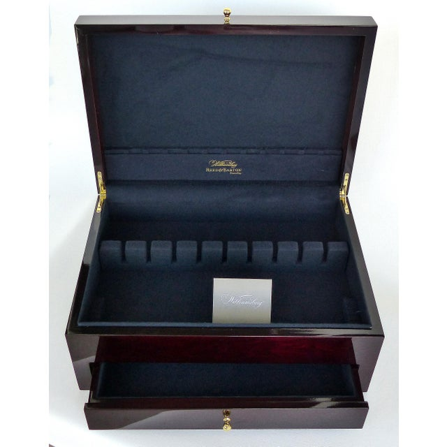 Reed & Barton Reed & Barton Williamsburg Collection Silver Chest With Marquetry For Sale - Image 4 of 10