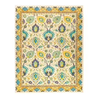 """Hand Knotted """"Eclectic"""" Area Rug - 8' 10"""" X 11' 4"""" For Sale"""