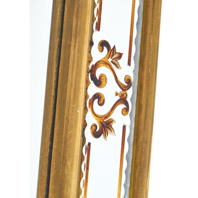 Vintage French Eglomisé Mirror For Sale - Image 9 of 10