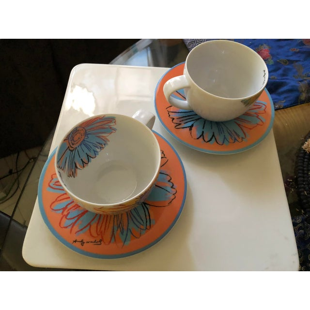 Andy Warhol Andy Warhol for Rosenthal Studio Line Daisy Tea Cup and Saucer Set For Sale - Image 4 of 6