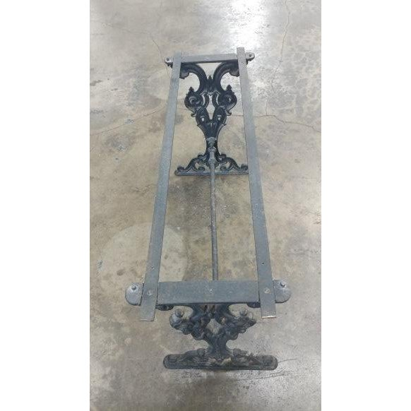 Iron 19th Century French Iron & Marble Top Pastry Table For Sale - Image 7 of 8