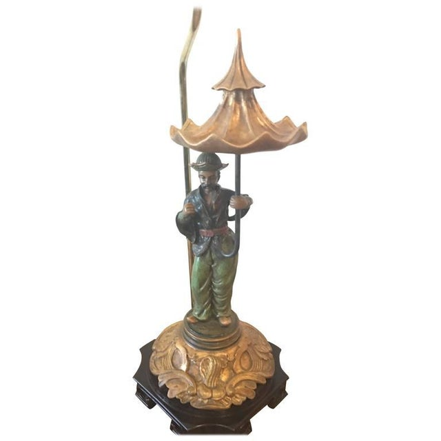 Chinoiserie Pagoda Oriental Table Lamp For Sale - Image 10 of 10