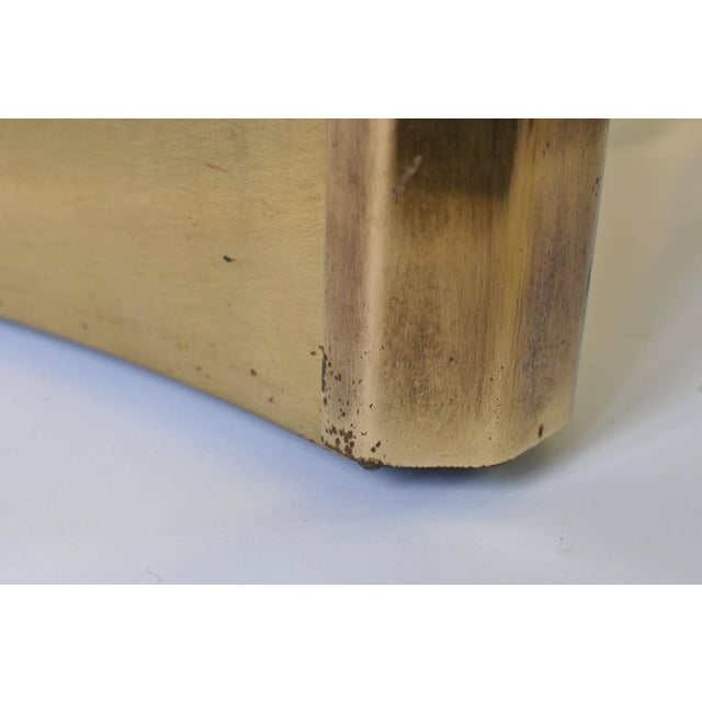 Pair of Mastercraft Brass Dining Table Pedestals For Sale In Boston - Image 6 of 7
