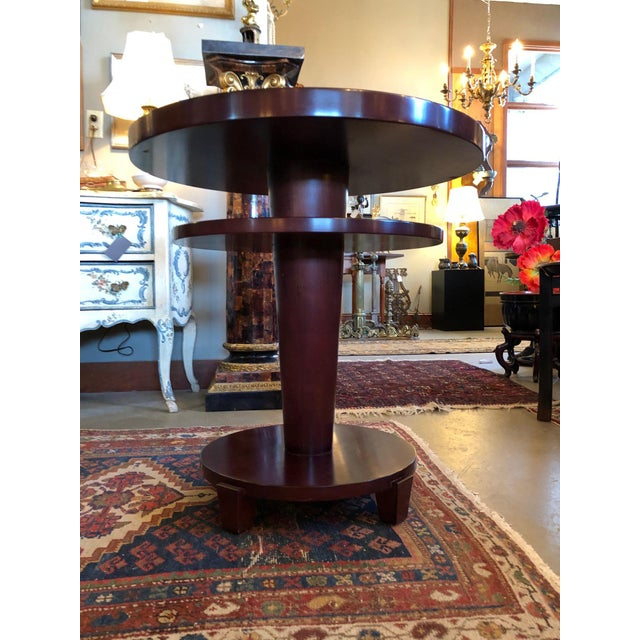 1980s 1980s Traditional Swaim Furniture Two-Tiered Round Center Table For Sale - Image 5 of 10