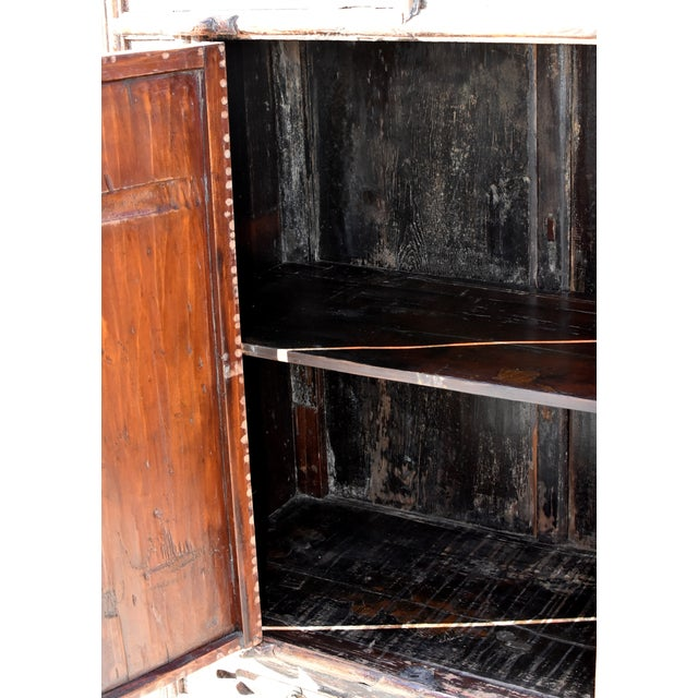 19th Century Antique Rustic Northern Chinese Cabinet For Sale - Image 12 of 13